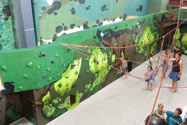 Der Kinderbereich im Stuntwerk ist schön bunt