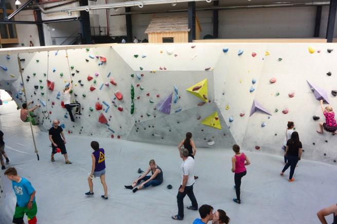 Einsteiger finden im Stuntwerk viele einfach Routen ohne Überhang