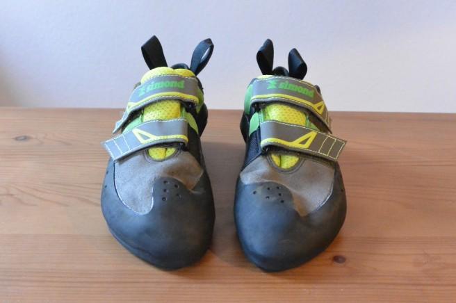 Simond Vuarde Tech Green Velcro vor dem ersten Klettern