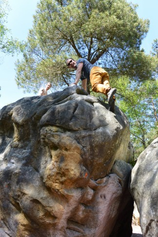 Bouldern im Wald von Fontainebleau